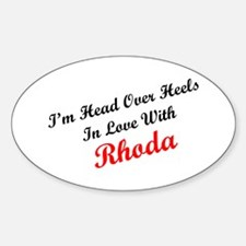In Love with Rhoda Oval Decal