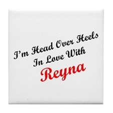 In Love with Reyna Tile Coaster