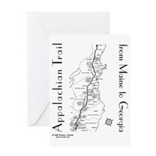Appalachian Trail Map Greeting Card