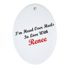In Love with Renee Oval Ornament