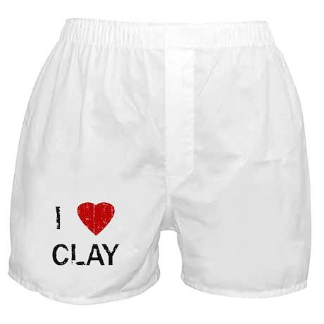 I Heart CLAY (Vintage) Boxer Shorts