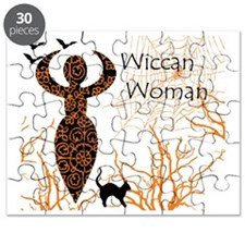 Wiccan Woman - halloween Puzzle