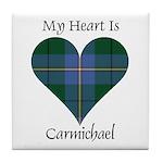 Heart - Carmichael Tile Coaster