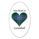 Heart - Carmichael Sticker (Oval 50 pk)