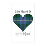 Heart - Carmichael Sticker (Rectangle 10 pk)