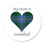 Heart - Carmichael Round Car Magnet