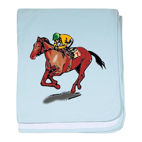 Race Horse baby blanket