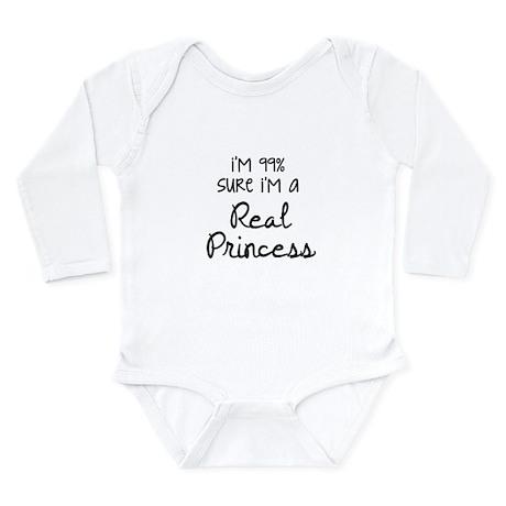 Real Princess Long Sleeve Infant Bodysuit