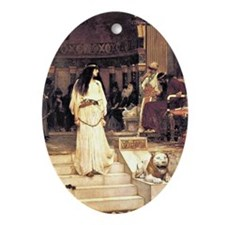 Waterhouse: Mariamne Leaving the Jud Oval Ornament