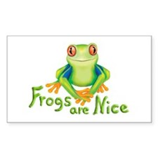 Frogs are Nice Rectangle Decal