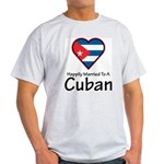 Happily Married To A Cuban Ash Grey T-Shirt