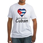 Happily Married To A Cuban Fitted T-Shirt