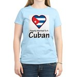 Happily Married To A Cuban Women's Pink T-Shirt