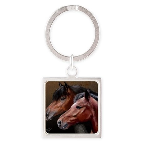 The Mane Attraction Square Keychain