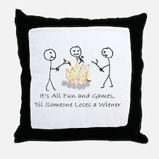 Lost Wiener Throw Pillow