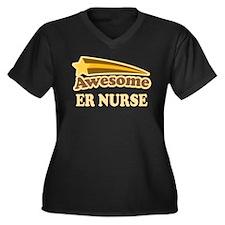 Awesome ER Nurse Women's Plus Size V-Neck Dark T-S