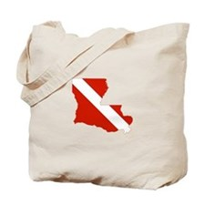 Louisiana Diver Tote Bag