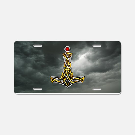 Thor's Hammer Aluminum License Plate