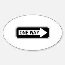 One Way Right - USA Oval Decal