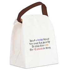 Nurse Sayings Canvas Lunch Bag