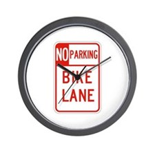 No Parking Bike Lane - USA Wall Clock