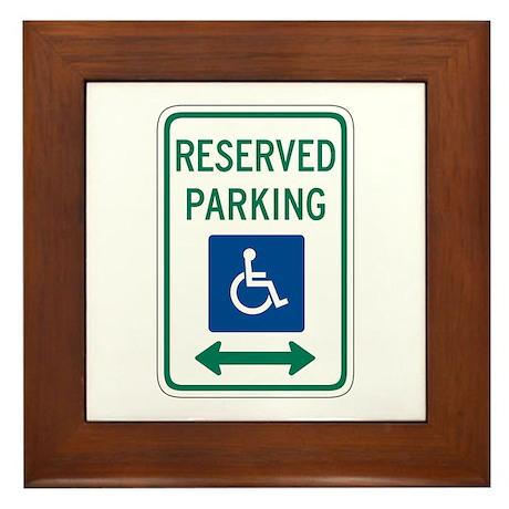 Reserved Parking Handicapped - USA Framed Tile