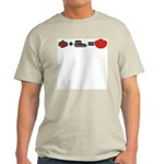 Flowers + Chocolate = Love Light T-Shirt