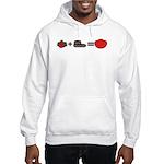 Flowers + Chocolate = Love Hooded Sweatshirt