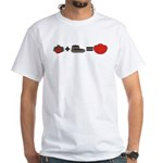 Flowers + Chocolate = Love White T-Shirt