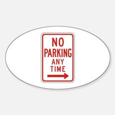 No Parking Any Time Right - USA Oval Decal