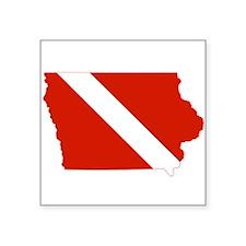 """Iowa Diver Square Sticker 3"""" x 3"""""""