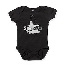 Steelhead fishing Baby Bodysuit