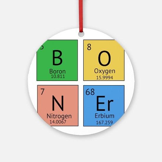 Chemistry Boner Ornament (Round)