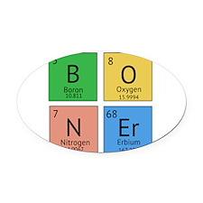 Chemistry Boner Oval Car Magnet
