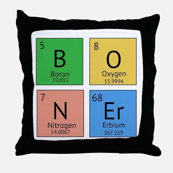 Chemistry Boner Throw Pillow