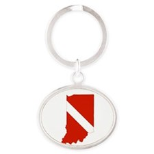 Indiana Diver Oval Keychain