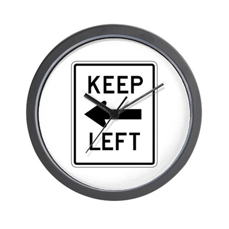 Keep Left - USA Wall Clock