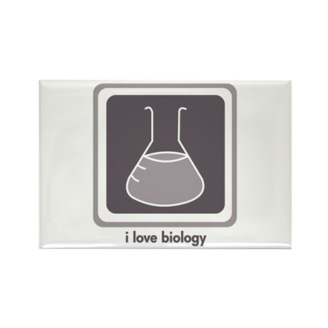 Love Biology (Flask) Rectangle Magnet (10 pack)