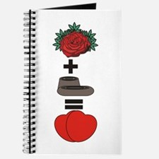 Flowers + Chocolate = Love Journal