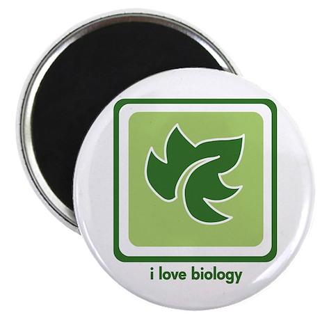 """Love Biology (Leaf) 2.25"""" Magnet (10 pack)"""