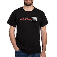 JUDO CHOP! T-Shirt red design Black shirt