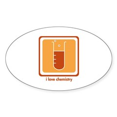 Love Chemistry Oval Decal