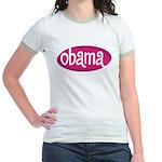 Obama Retro Pink Jr. Ringer T-Shirt