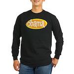 Obama Retro Long Sleeve Black T-Shirt