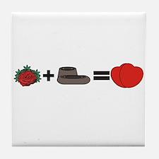 Flowers + Chocolate = Love Tile Coaster