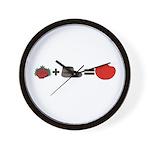 Flowers + Chocolate = Love Wall Clock