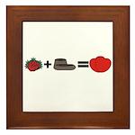 Flowers + Chocolate = Love Framed Tile