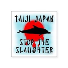 "Taiji Slaughter Square Sticker 3"" x 3"""