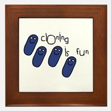 Cloning is Fun Framed Tile