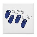 Cloning is Fun Tile Coaster